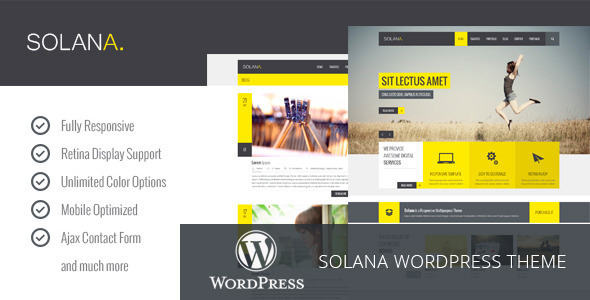 Solana – Responsive Multipurpose WordPress Theme