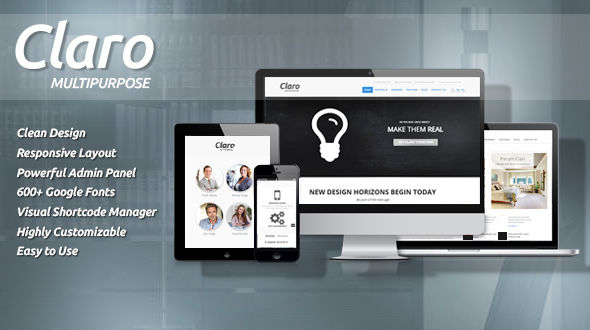Claro | Clean and Responsive Multipurpose Theme