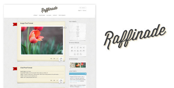 Raffinade – WordPress Tumblog Theme