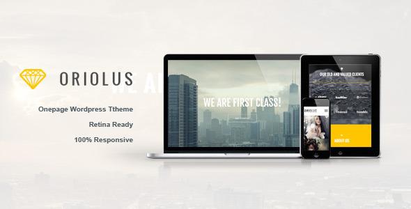 Oriolus – Responsive Onepage WordPress Theme