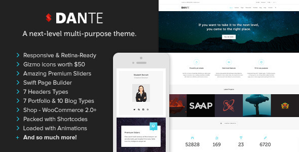 Dante – Responsive Multi-Purpose WordPress Theme