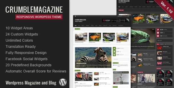 Crumble – Responsive WordPress Magazine / Blog
