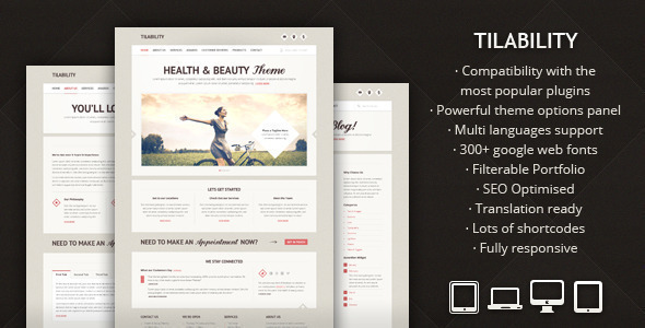 Tilability – Responsive Health & Beauty WP theme