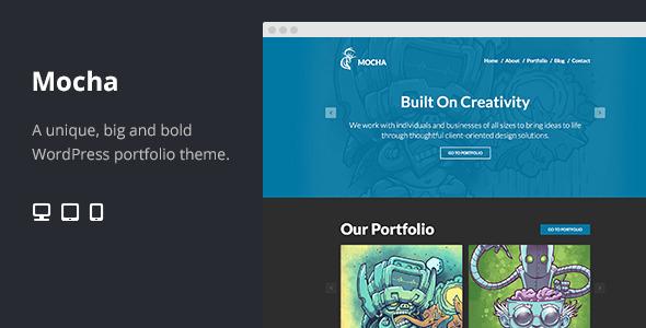 Mocha Flat Bold WordPress Portfolio Theme