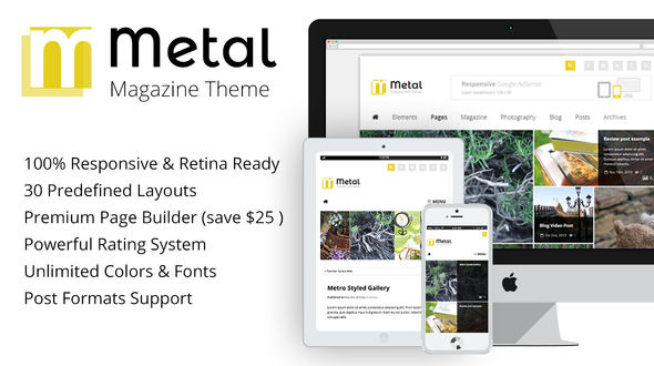 Metal – Multi-purpose and Review Magazine Theme