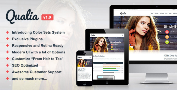 Qualia – Responsive Multi-Purpose Theme