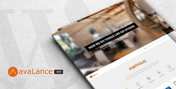 Avalance – WordPress Portfolio Website Theme