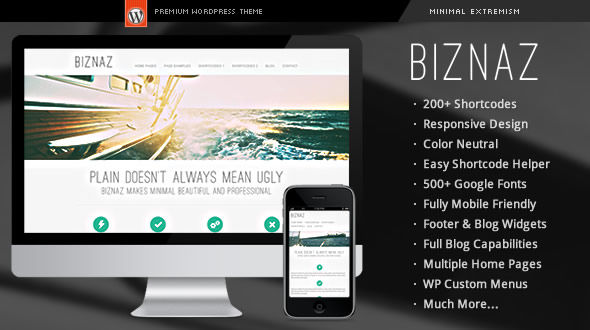 Biznaz – Responsive WordPress Theme