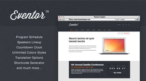 Eventor – Event Management WordPress Theme