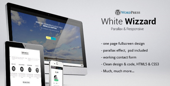 Whitewizzard Onepage Responsive