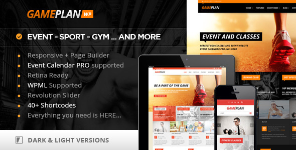 Gameplan – Event and Gym Fitness WordPress Theme
