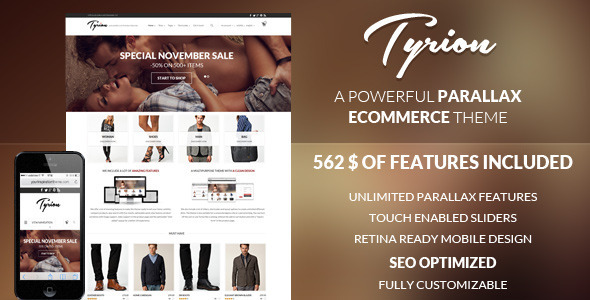 Tyrion – Flexible Parallax e-Commerce Theme