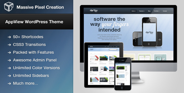 AppView Professional Portfolio WordPress Theme
