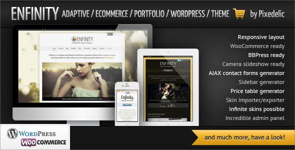 Enfinity – Adaptive Ecommerce Portfolio WP theme