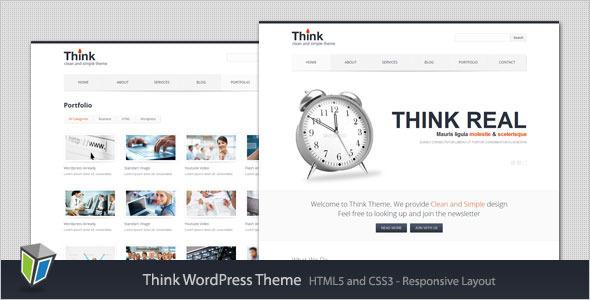 Think – Responsive Corporate WordPress Theme