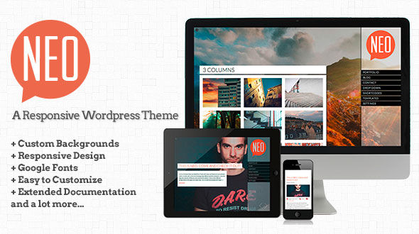 NEO – A responsive Fullscreen WordPress Theme