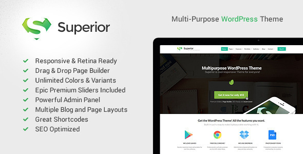 Superior – Responsive MultiPurpose WordPress Theme