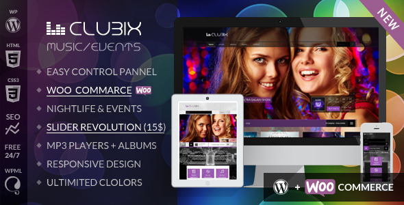 Clubix – Nightlife, Music & Events WordPress Theme