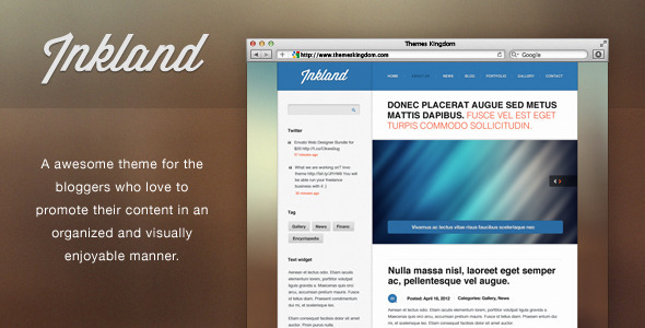 Inkland – Blog WordPress theme
