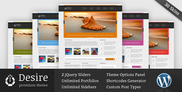 Desire – Blog and Portfolio WordPress Theme