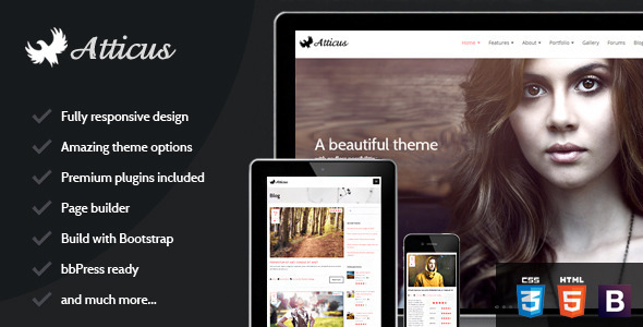 Atticus – Clean Responsive Multi-Purpose Theme