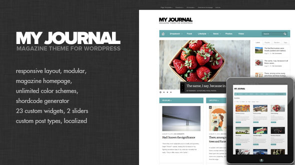 My Journal – Modular and Responsive Magazine Theme