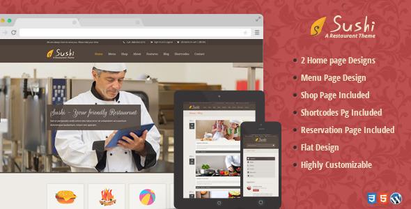 Sushi – Restaurant WordPress Theme