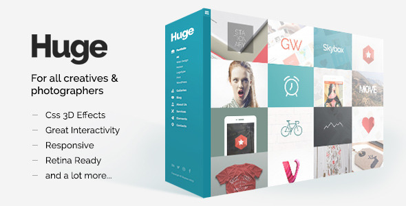 Huge – Unique & Modern 3D Portfolio for Creatives