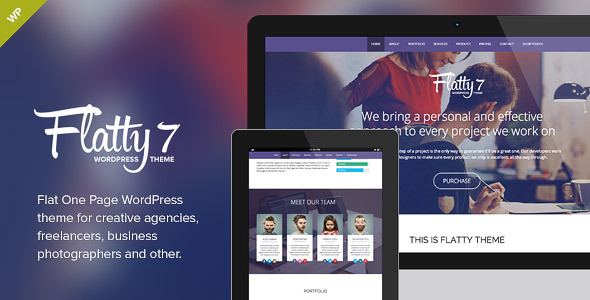 Flatty 7 – One Page Parallax WordPress Theme