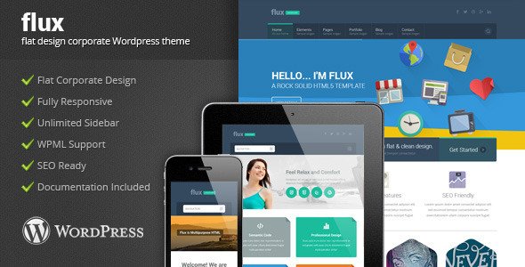 Flux – Flat Corporate WordPress Theme 2