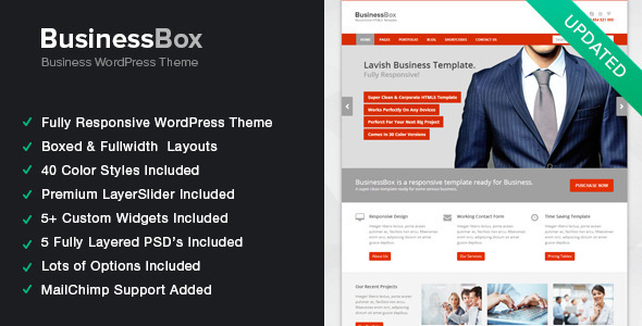 BusinessBox – Responsive Business WordPress Theme