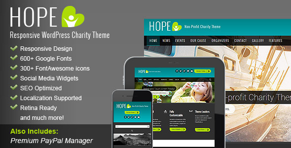 HOPE – Responsive WordPress Charity Theme