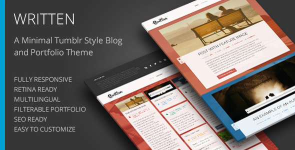 Written – Minimal Blog & Portfolio WordPress Theme