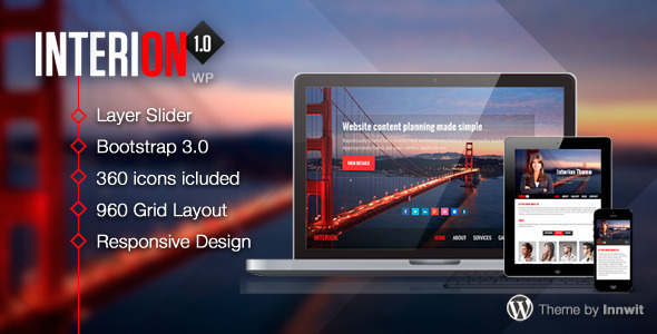 Interion – Responsive One Page WordPress Theme