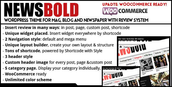 Newsbold – Bootstrap Multipurpose MagNewsBlog