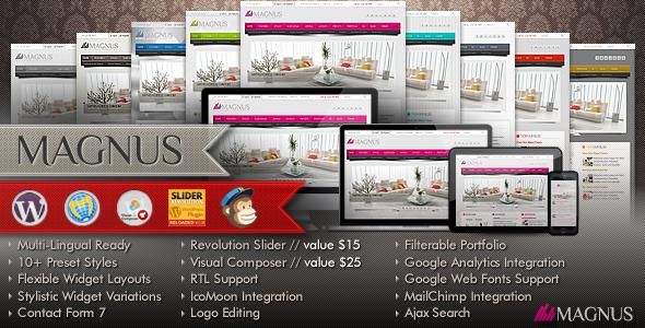 Magnus Multi-Purpose Responsive WordPress Theme