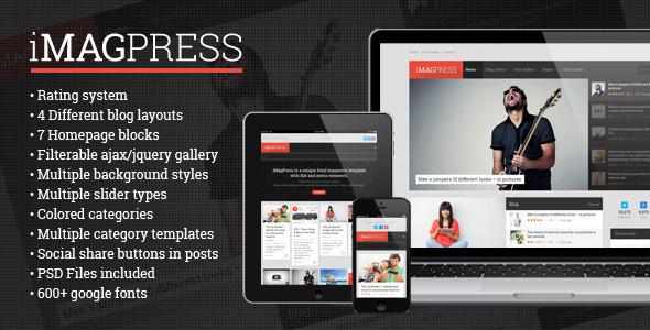 iMagPress – Flat Magazine Theme