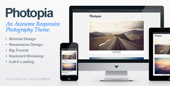 Photopia – Minimalist Photography WordPress Theme