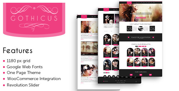 Gothicus – A One Page WooCommerce WordPress Theme
