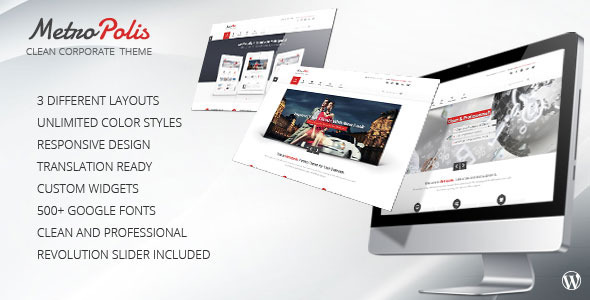 Metropolis – Clean Multipurpose WordPress Theme