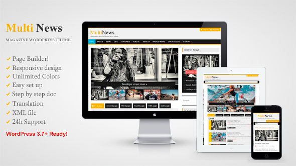 Multinews – Responsive Multipurpose News Theme