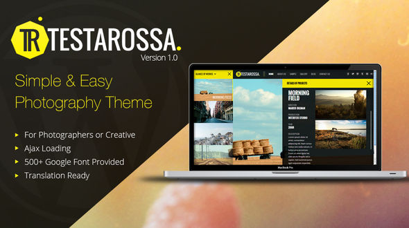 Testarossa – Simple Photography Ajax WP Theme