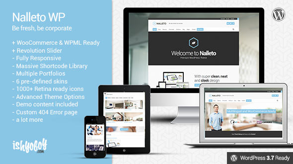 Nalleto WP – Responsive corporate theme with e-commerce
