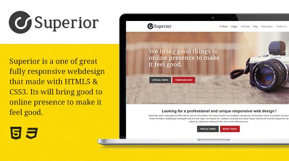 Superior – Multipurpose Responsive WordPress Theme