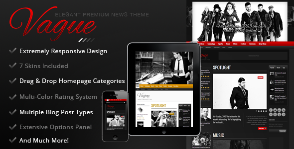 Vague – Premium Responsive News Magazine Theme