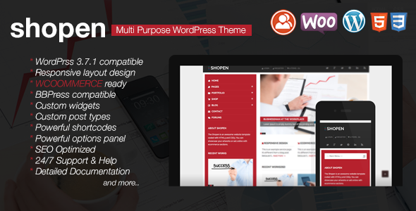 Shopen – Responsive WooCommerce WordPress Theme