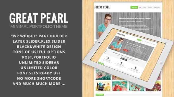 Great Pearl – Portfolio WordPress Theme