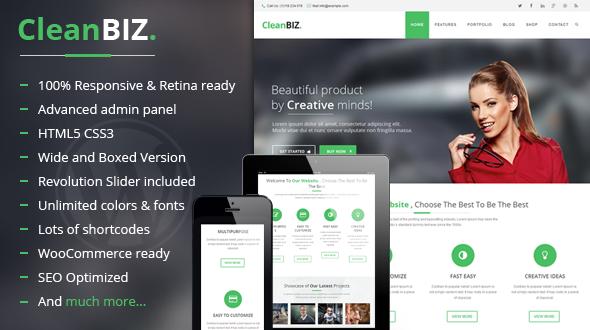 CleanBIZ | Responsive Multipurpose Theme