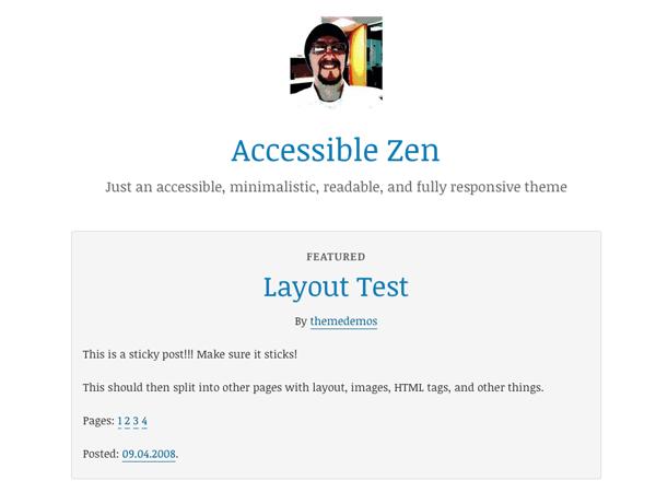 Accessible Zen