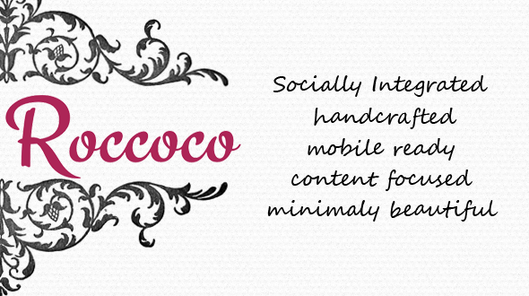 Roccoco – Minimally Beautiful WordPress Theme